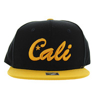 SM346 Cali Cotton Snabpack Cap (Black & Gold)