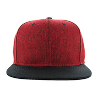 SP5419 Blank Cotton Snapback (Red & Black)