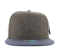 SP5419 Blank Cotton Snapback (Charcoal & Grey)