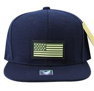 SM737 USA Flag Snapback Cap (Navy & Navy)