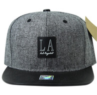 SM859 Los Angeles City Snapback (Charcoal & Black)