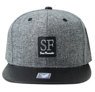 SM859 San Francisco City Snapback (Charcoal & Black)