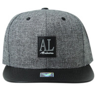 SM859 Alabama State Snapback (Charcoal & Black)