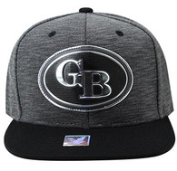 SM794 Green Bay City Snapback Cap (Charcoal & Black)