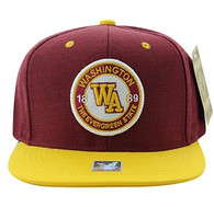 SM804 Washington State Snapback (Burgundy & Gold)
