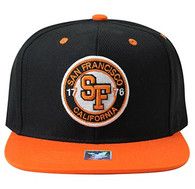 SM804 San Francisco City Snapback (Black & Orange)