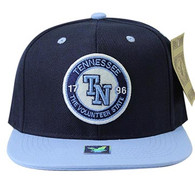 SM804 Tennessee City Snapback (Navy & Sky Blue)