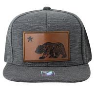 SM863 Cali Bear Snapback Cap (Charcoal & Charcoal)