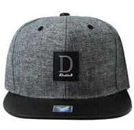 SM859 Dallas Cotton Snapback Cap Hat (Charcoal & Black)