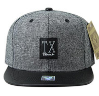 SM859 Texas State Snapback (Charcoal & Black)