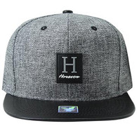 SM859 Houston City Snapback (Charcoal & Black)