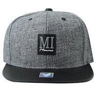 SM859 Miami City Snapback (Charcoal & Black)