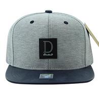 SM859 Dallas Cotton Snapback Cap Hat (Grey & Navy)