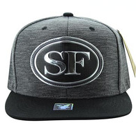 SM794 San Francisco City Snapback (Charcoal & Black)
