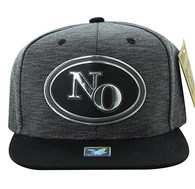 SM794 New Orleans City Snapback (Charcoal & Black)