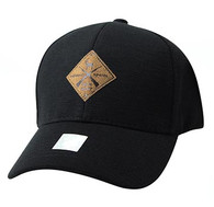 VM823 Deer Velcro Cap (Black & Black)