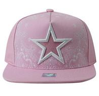 SM528 Big Star Cotton Snapback (Light Pink & Light Pink)