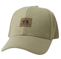 VM892 Cali Bear Cotton Velcro Cap (Khaki & Khaki)