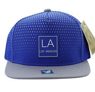 SM852 Los Angeles City Snapback (Royal & Grey)