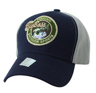 VM865 Big Bass Velcro Cap (Navy & Grey)