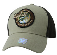 VM865 Big Bass Velcro Cap (Khaki & Brown)