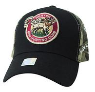 VM865 Hunting Deer Velcro Cap (Black & Camo)