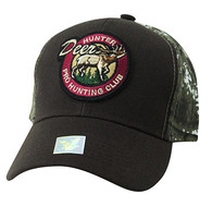 VM865 Hunting Deer Velcro Cap (Brown & Camo)