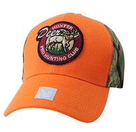 VM865 Hunting Deer Velcro Cap (Orange & Camo)