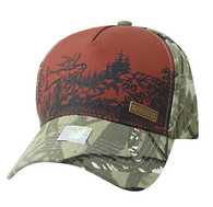 VM857 Hunting Deer Velcro Cap (Brown & Camo)