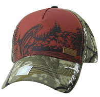 VM857 Fishing Bass Velcro Cap (Brown & Camo)