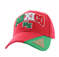 VM417 Mexico Velcro Cap (Red & Kelly Green)