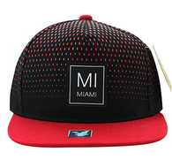 SM852 Miami City Snapback (Black & Red)