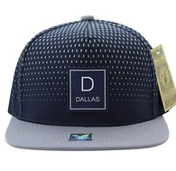 SM852 Dallas City Snapback (Navy & Grey)