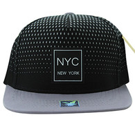 SM852 New York City Snapback (Black & Grey)