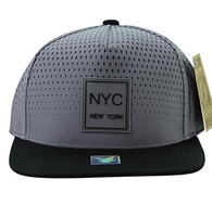 SM852 New York City Snapback (Grey & Black)