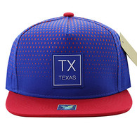SM852 Texas State Snapback (Royal & Red)