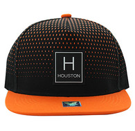 SM852 Houston City Snapback (Black & Orange)