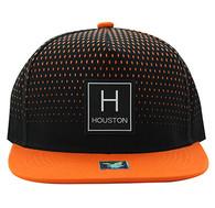 SM852 Houston City Snapback (Black & Orange)