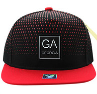 SM852 Georgia State Snapback (Black & Red)