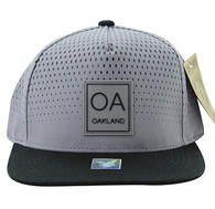 SM852 Oakland City Snapback (Grey & Black)