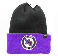 WB181 Baltimore Long Beanie (Black & Purple)