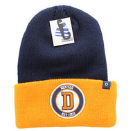 WB181 Denver Long Beanie (Navy & Orange)