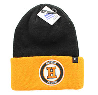 WB181 Houston Long Beanie (Black & Orange)