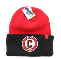 WB181 Chicago Long Beanie (Red & Black)