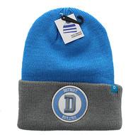 WB181 Detroit Long Beanie (Sky Blue & Grey)