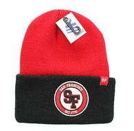 WB181 San Francisco Long Beanie (Red & Black)