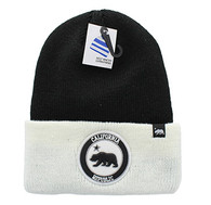 WB181 Cali Bear Long Beanie (Black & White)
