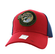 VM865 Big Bass Velcro Cap (Red & Navy)