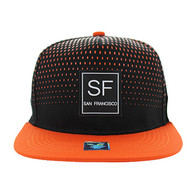 SM852 San Francisco City Snapback (Black & Orange)