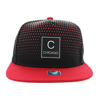 SM852 Chicago City Snapback (Black & Red)